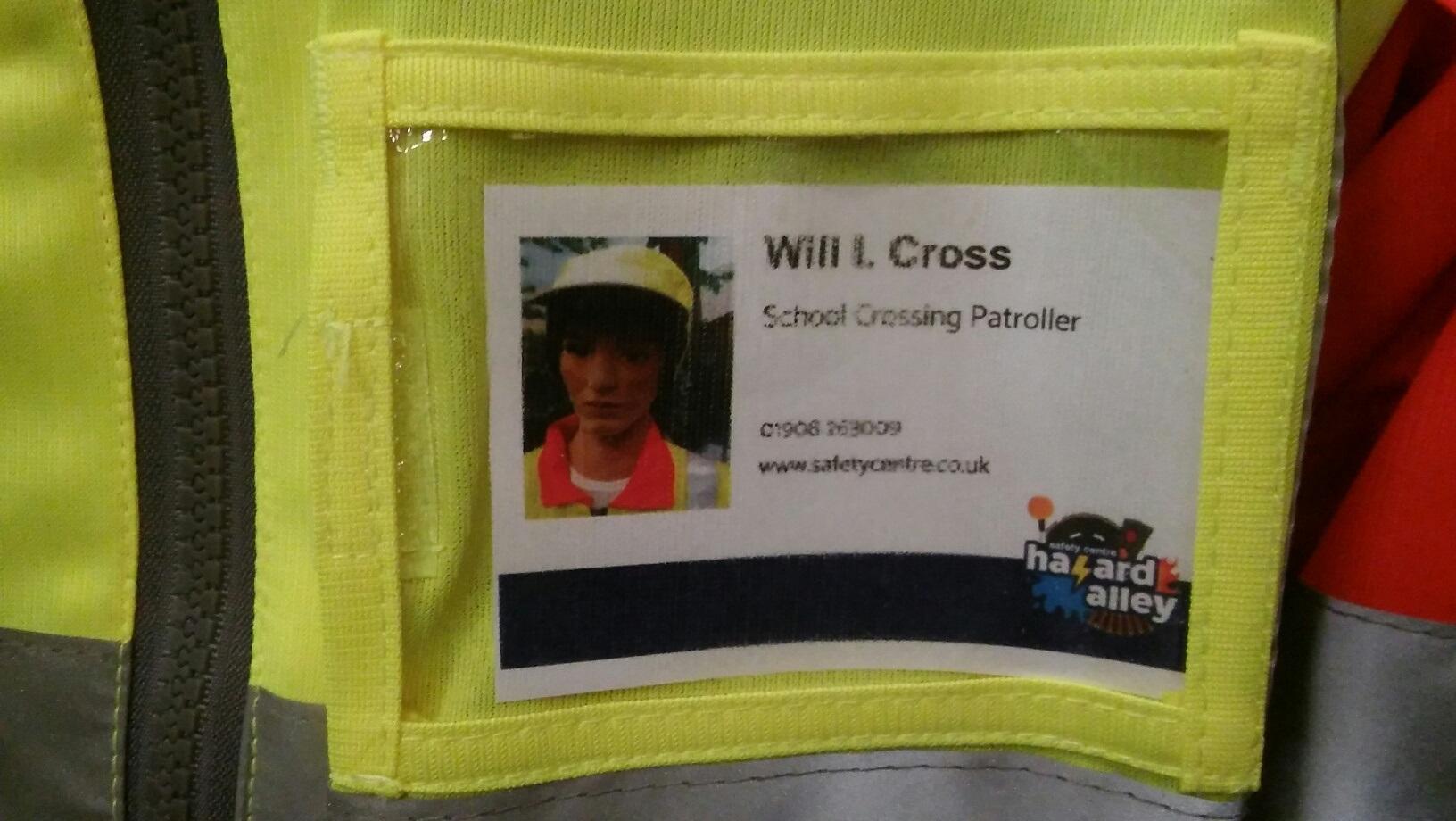 Will I Cross Name Badge